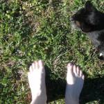 Barefoot hippie…