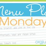 Menu Monday ~ June 2, 2014
