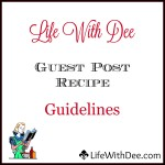 Guest Post Guidelines for Recipes