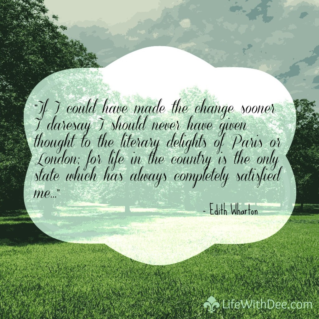 Life in the country quote by Edith Wharton