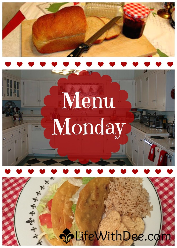 Menu Monday ~ January 25, 2016