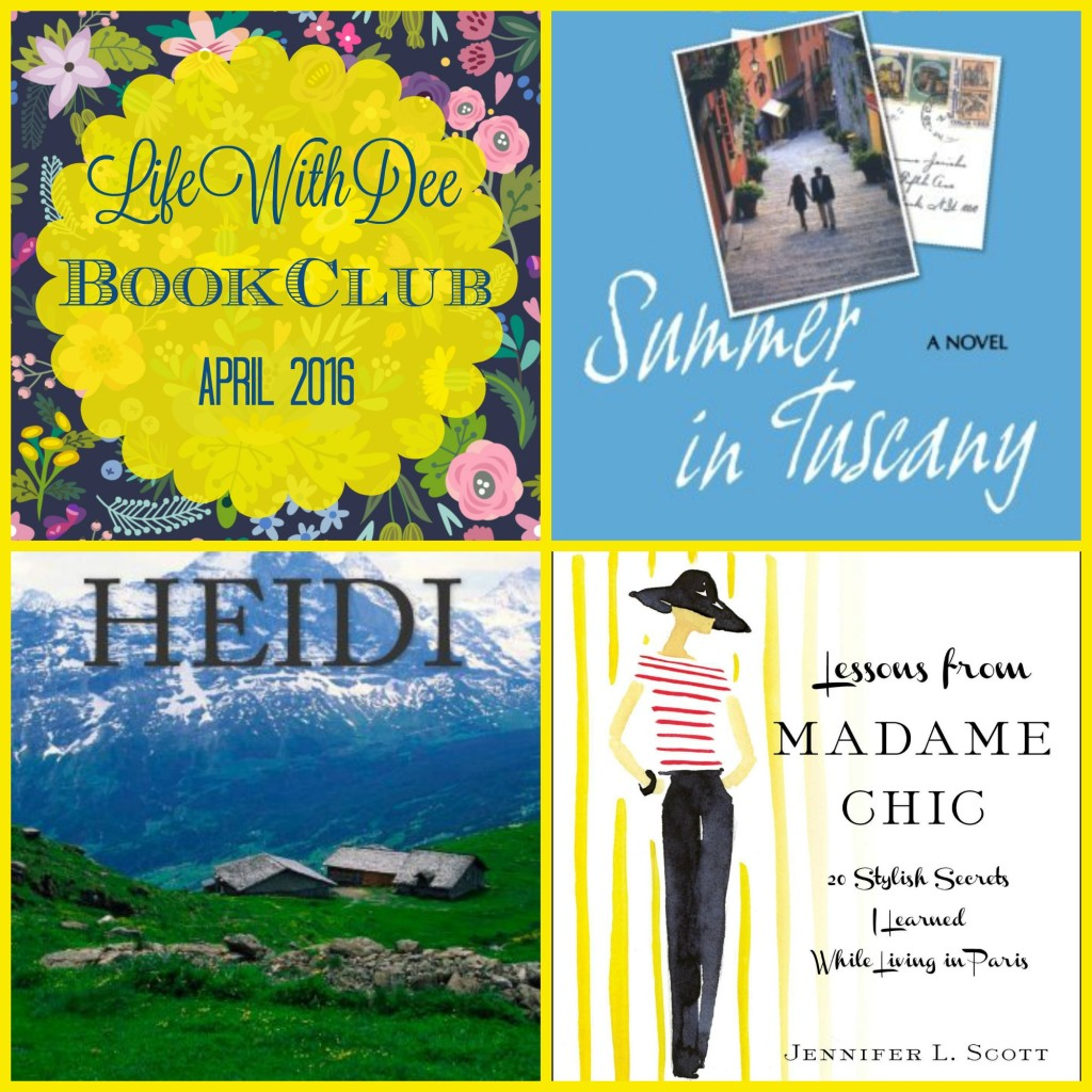 Life With Dee Book Club ~ April 2016