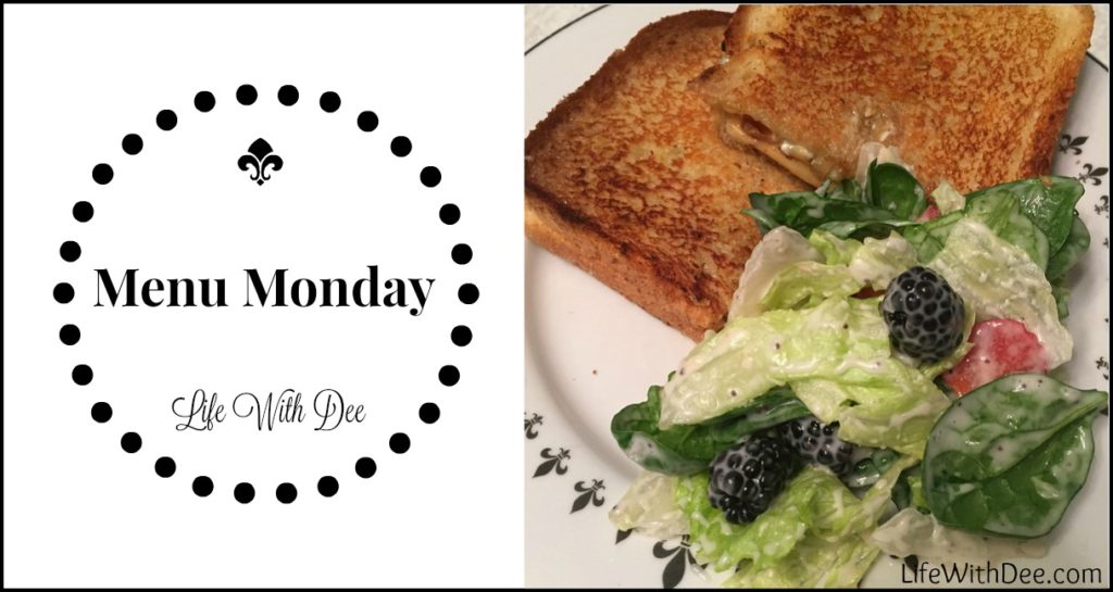 Menu Monday ~ May, 9, 2016