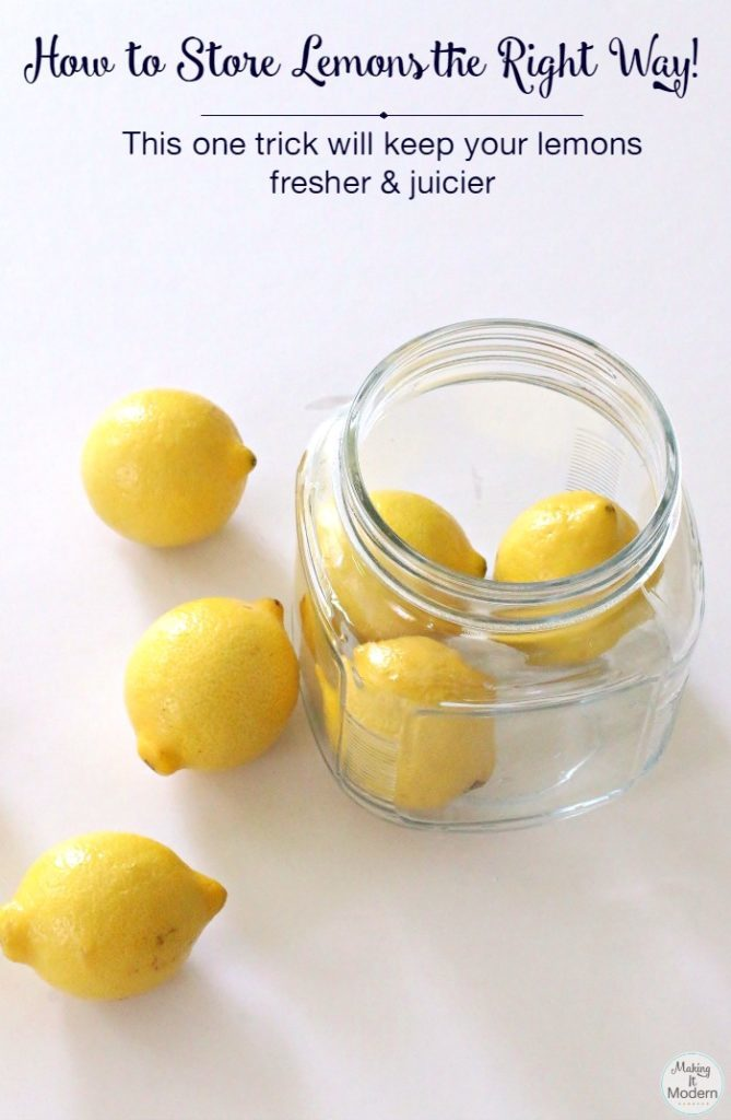How to store lemons