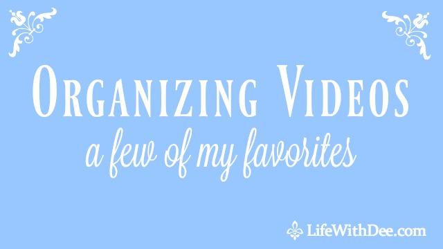 Organizing Videos