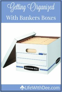 Getting Organized With Bankers Boxes