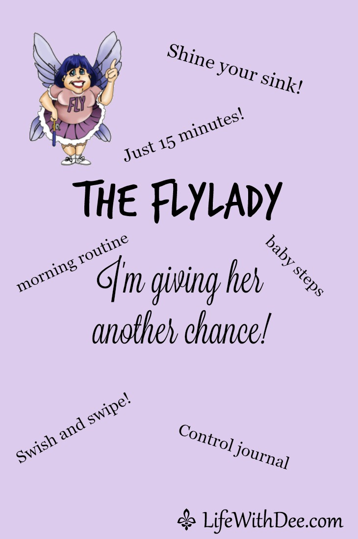 I'm giving The FlyLady and her methods another chance.