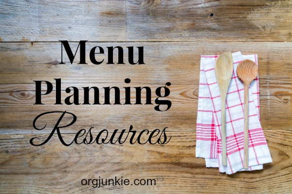 Menu Planning Resources.