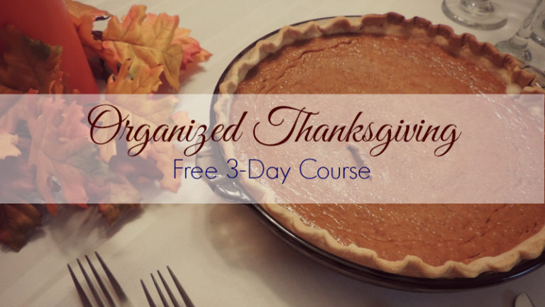 Organized Thanksgiving course