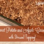 Sweet Potato and Apple Casserole with Streusel Topping