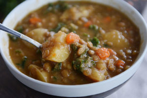 Smoky Lentil and Potato Soup