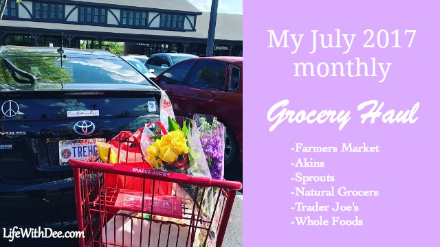 July 2017 grocery haul