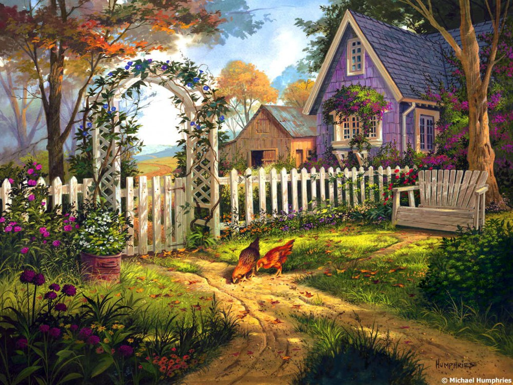 Cottage painting by Michael Humphries