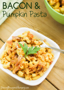Bacon and Pumpkin Pasta