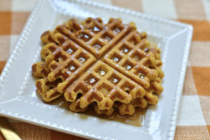 Homemade Pumpkin Waffles