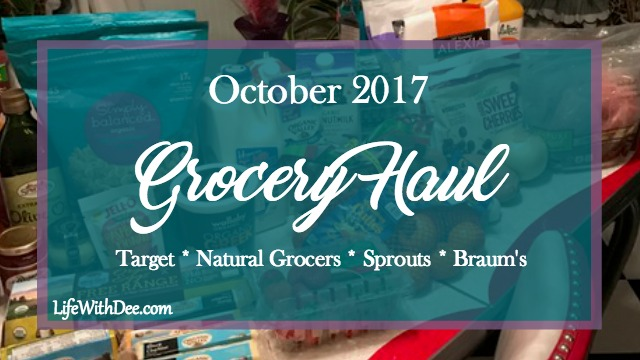 October monthly grocery haul