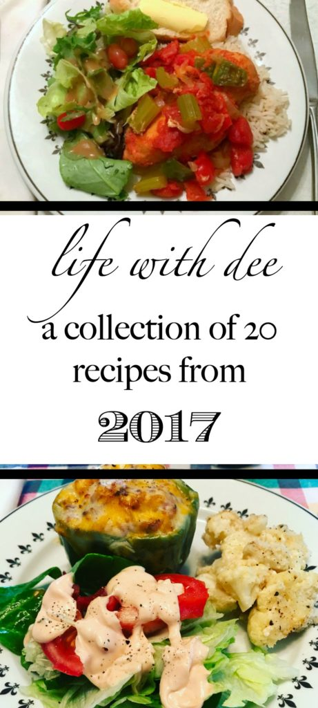 A collection of 20 recipes from 2017