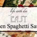 Easy Oven Spaghetti Sauce