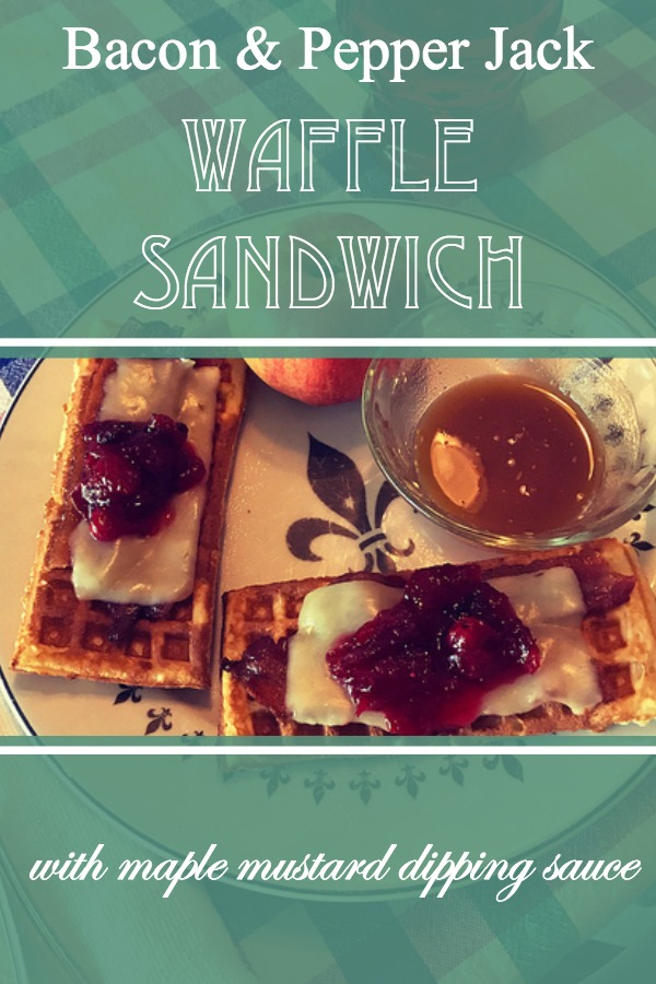 Bacon and Pepper Jack Waffle Sandwich