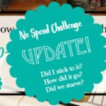 No-Spend Challenge Update