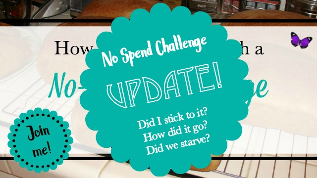 No Spend Challenge Update