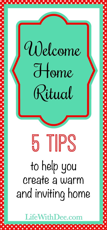 Welcome Home Evening Ritual