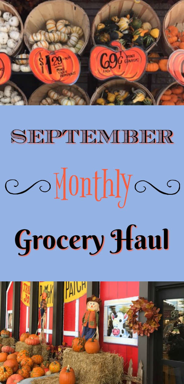 Sept grocery haul