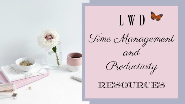 Time Management Resources