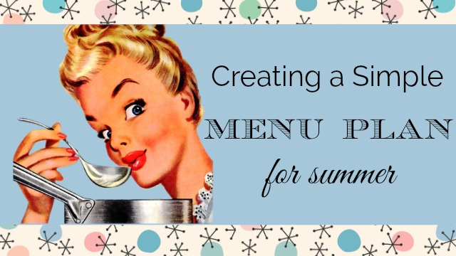Creating a Simple Menu Plan