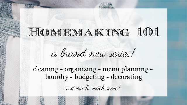 Homemaking 101 graphic