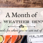 A Month of Cool Weather Dinner Menus