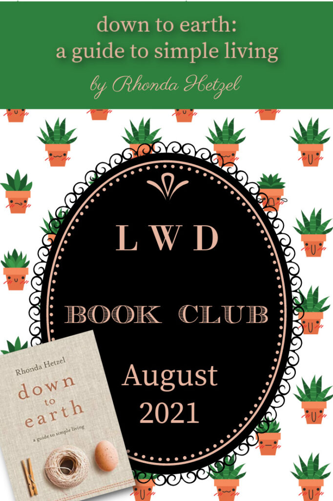 Down to Earth book club graphic