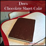 Dee's Chocolate Sheet Cake