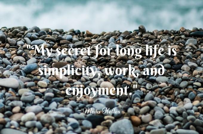 Simplicity, work, enjoyment