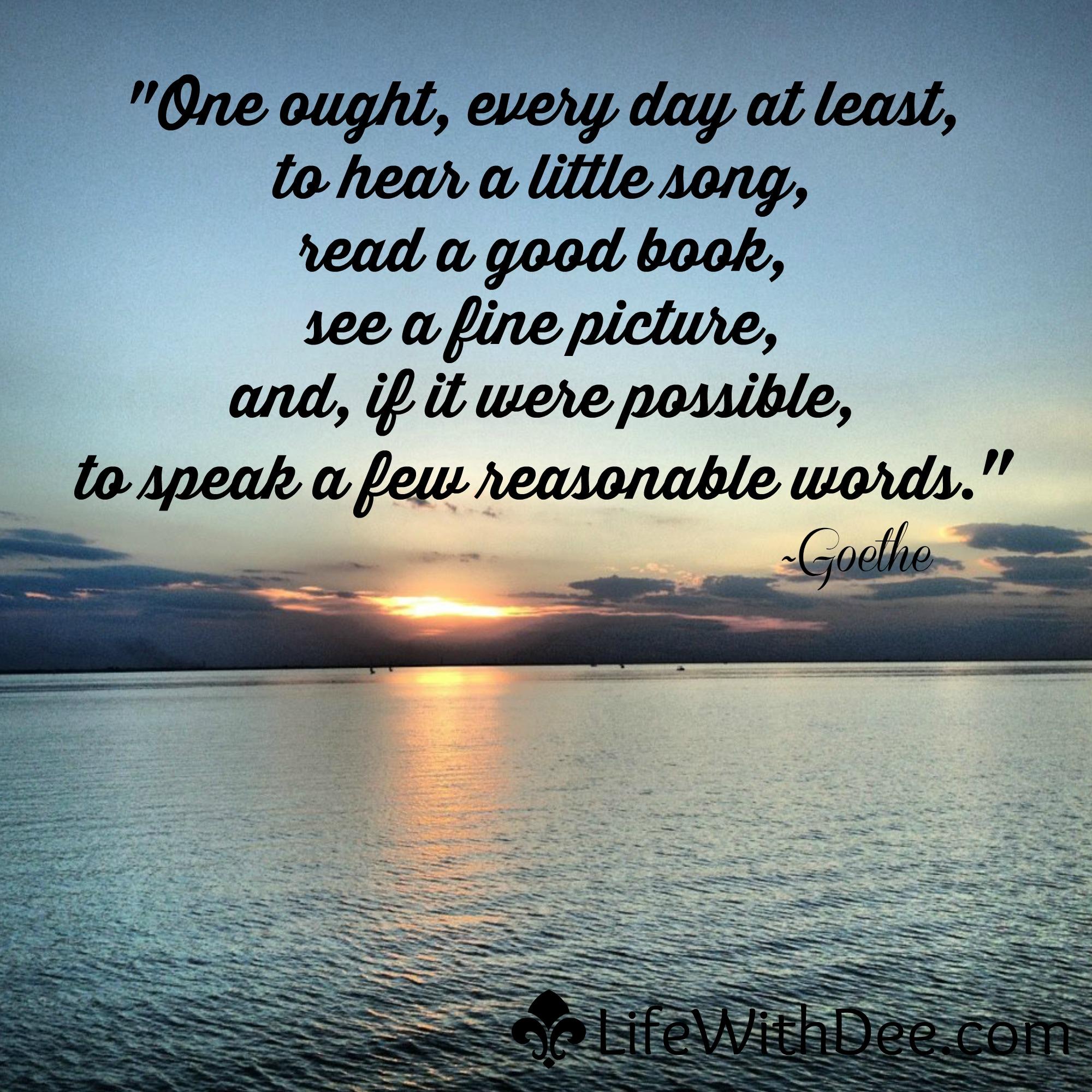 A few reasonable words...