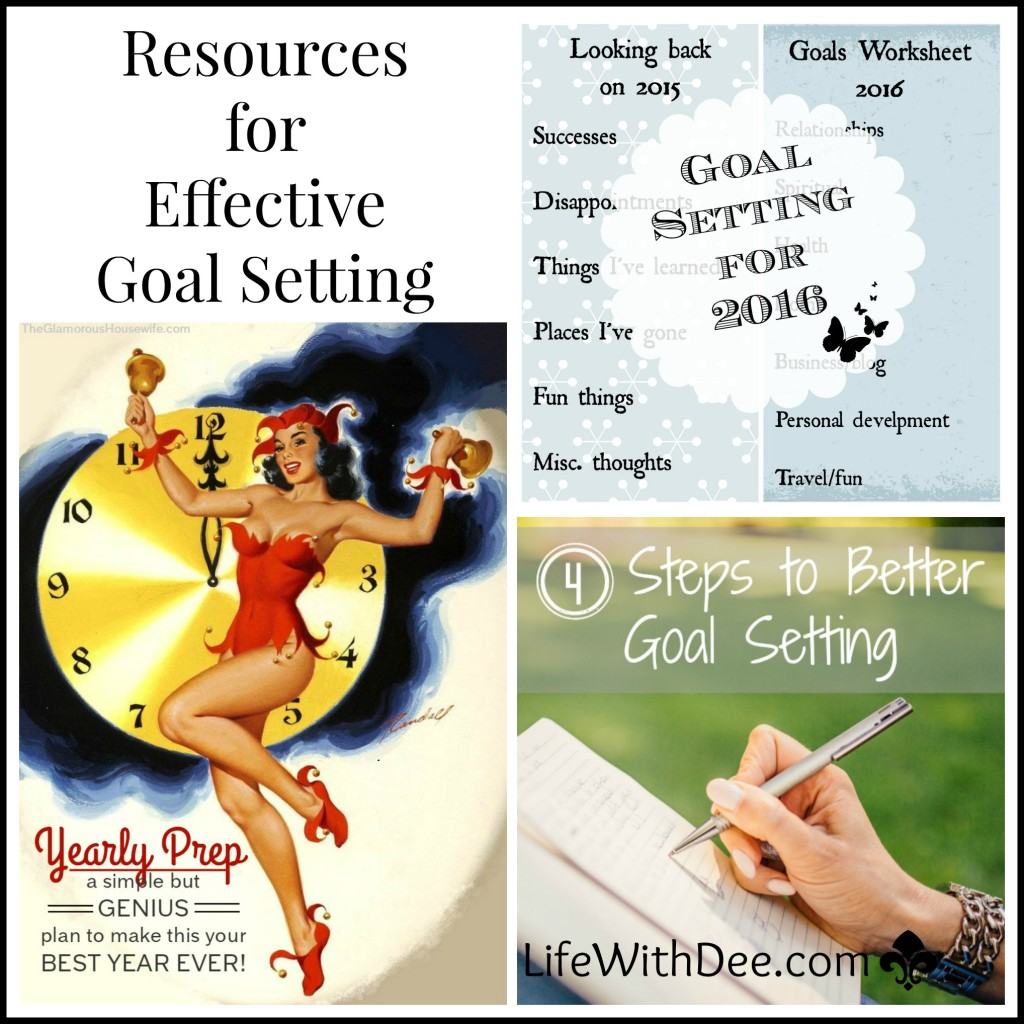 Resource List For Goal Setting