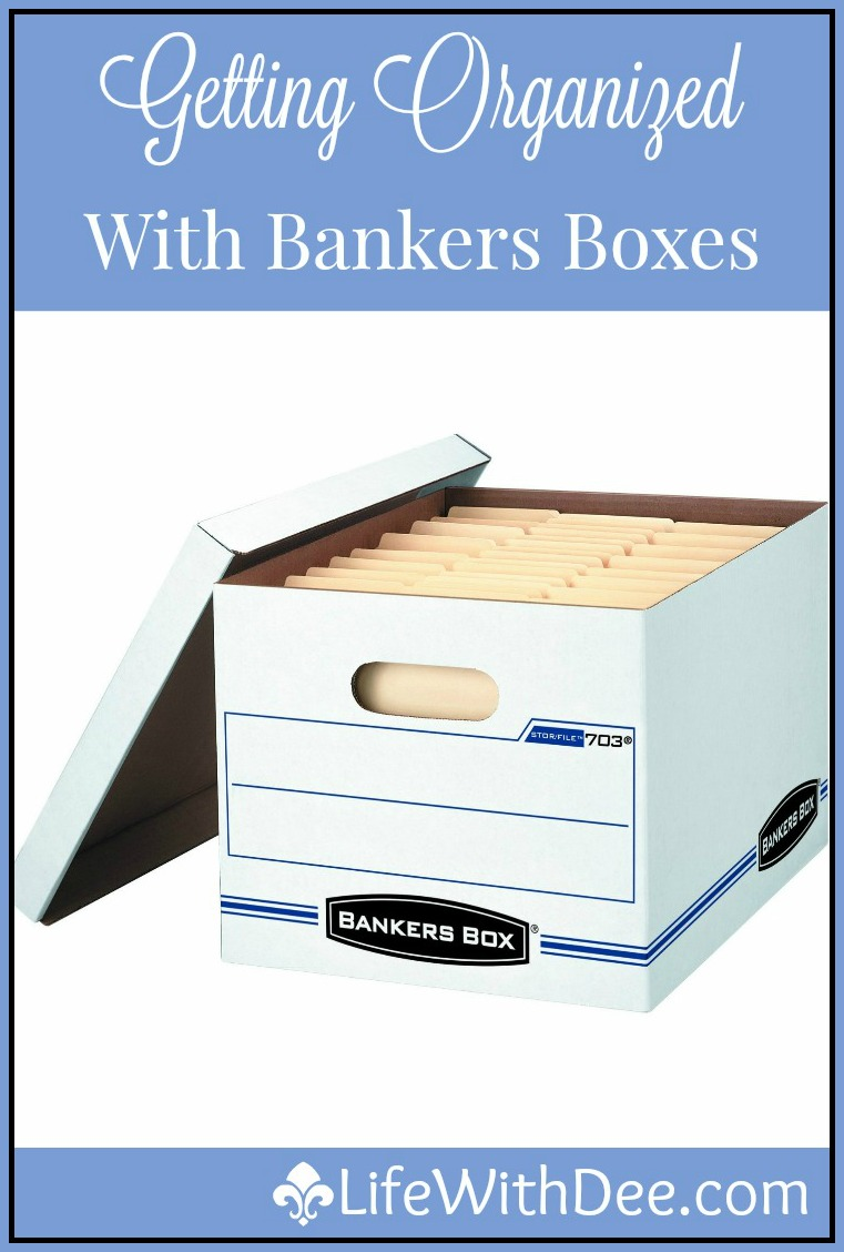 Organizing with bankers boxes