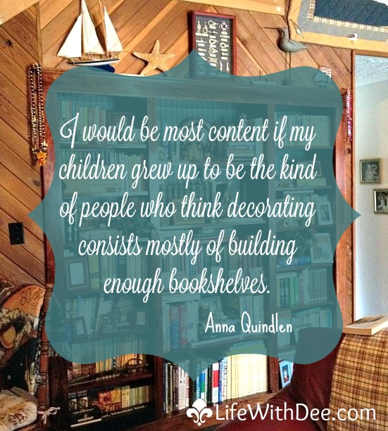 decoratebookshelvesquote