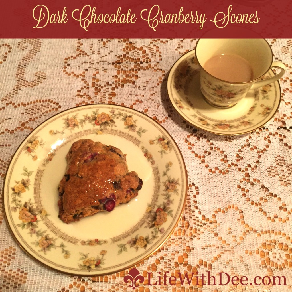 Dark Chocolate Cranberry Scones
