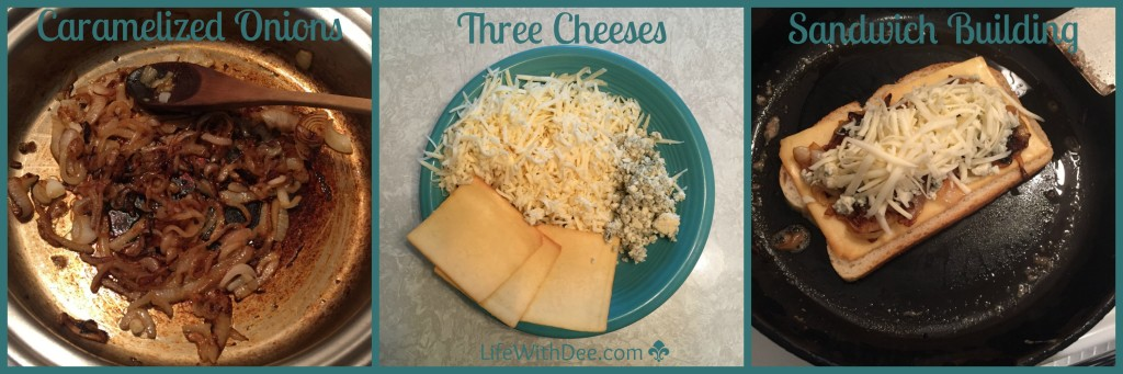 Three Cheese Grilled Cheese - Step by Step
