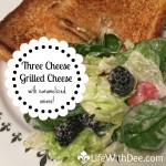 Three Cheese Grilled Cheese with Caramelized Onions