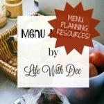 Menu Monday ~ Menu Planning Resources