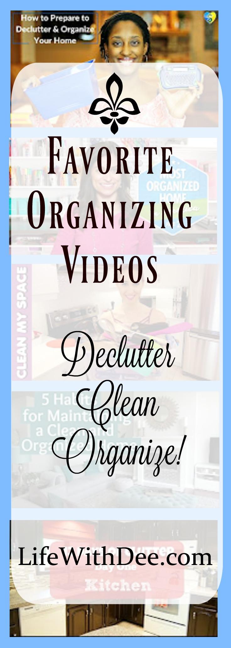 Favorite Organizing Videos