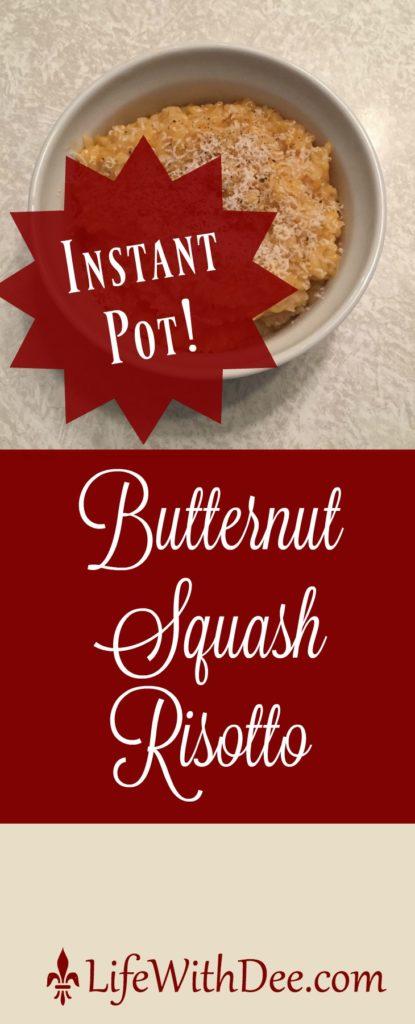 Butternut squash risotto-