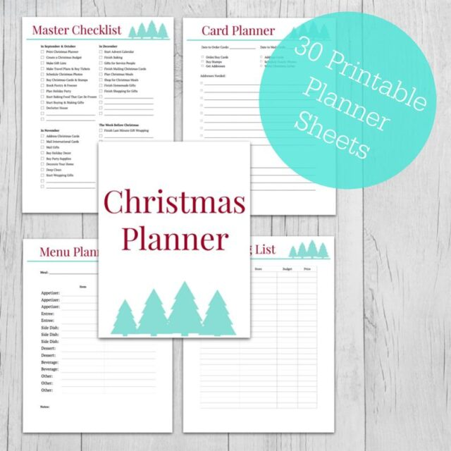 Christmas planner picture