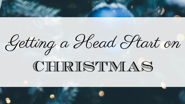 head start on Christmas graphic