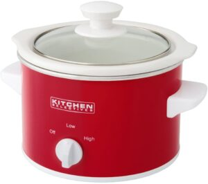 picture of red mini crockpot