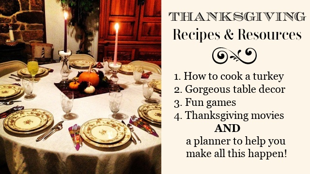 Thanksgiving Recipes and Resources graphic