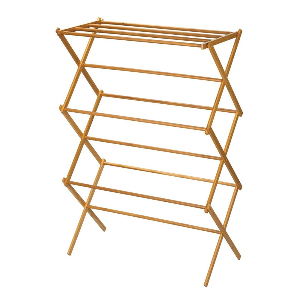 Indoor wood drying rack - eco friendly laundry