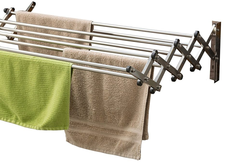 Wall mounted drying rack - eco friendly laundry